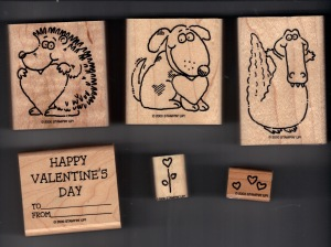 2000 Stampin Up Valentine's Day Rubber Stamp Set Scanned 1-14-2013 Front