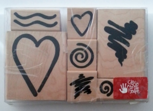 Close to My Heart Bodacious Bolds Valentines Rubber Stamp Set #6022 Front (2)
