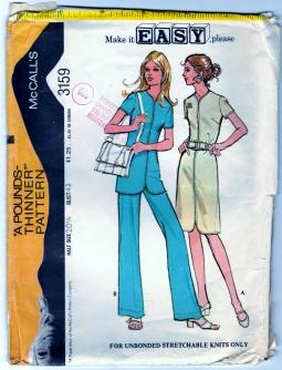 https://www.zibbet.com/bearyamazing/mccalls-3159-sewing-craft-pattern-dress-tunic-and-pants-sz-20-1-2-cut   #BearyAmazing  #BLuvBHugz  #Zibbet