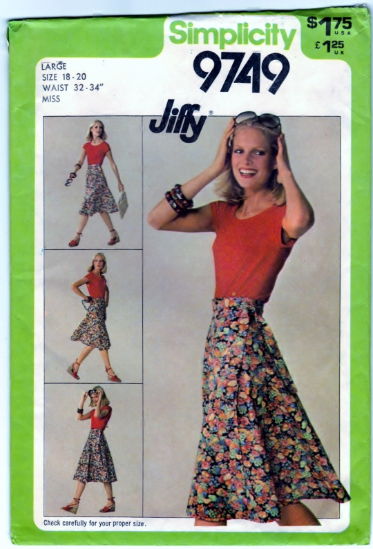 http://bearyamazing.storenvy.com/products/10407618-simplicity-9749-diy-pattern-skirt-front-wrap-vintage-sewing-craft-supply-sz