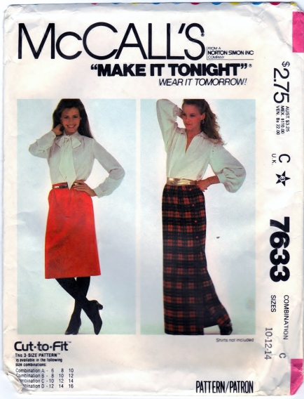 McCall's 7633 Sizes 10-12-14  Scanned 4-19-2014 Front