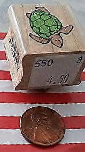 Hero Arts Turtle Rubber Stamp Original Sticker View (2)