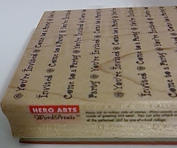 Hero Arts You're Invited Come To A Party Word Print Background Rubber Stamp Hero Arts Brand (2)
