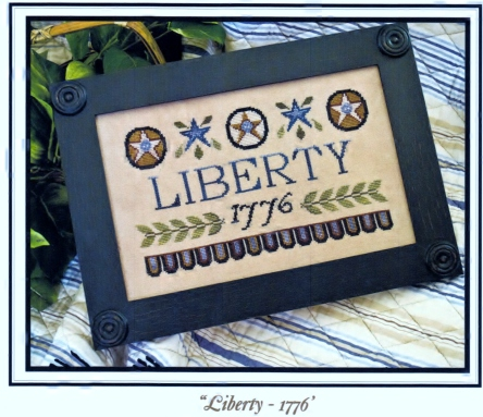 Little House Needleworks Liberty 1776 Regular Price 8.25 Finished Product Photo