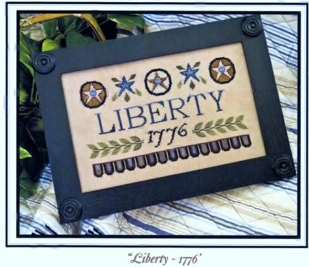 Little House Needleworks Liberty 1776 Regular Price 8.25 Finished Product Photo