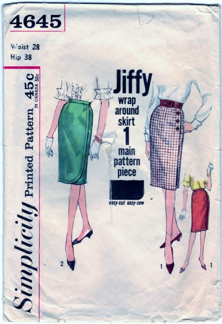 Simplicity 4645 Wrap-Around Skirt  Scanned 3-15-2014 Front