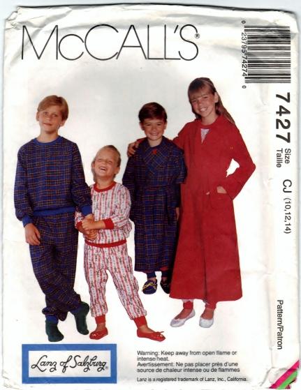 McCalls 7427 CJ -10, 12, 14 Scanned 4-9-2013 Front