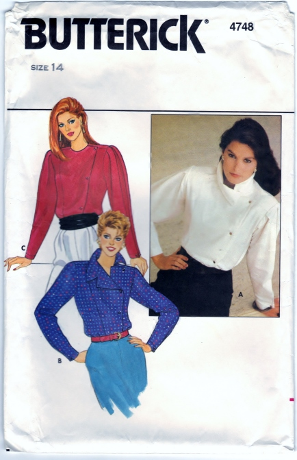 Butterick 4748 Misses Blouse Front Scanned 02-16-2015