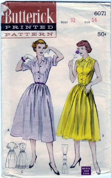 Butterick 6071 Scanned 4-02-2013 Front