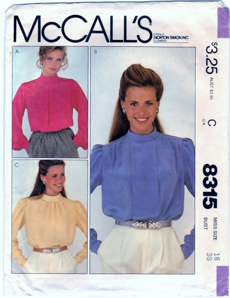 McCalls 8315 Misses Blouses Front Scanned 02-08-2015