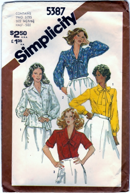 Simplicity 5387 Blouses In Half-Sizes Front Scanned 01-28-2015