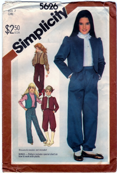 Simplicity 5626 Scanned 3-31-2013 Front