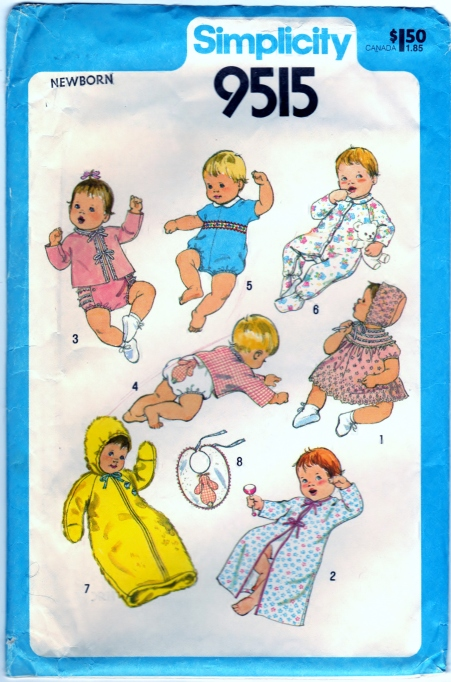 Simplicity 9515 Babies Layette Front Scanned 02-18-2015