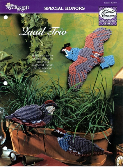 The Needlecraft Shop Special Honors 'Quail Trio' Scanned 4-06-2013