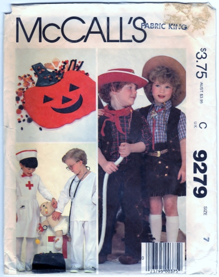 http://sharpharmade.myshopify.com/products/mccalls-9279-sewing-craft-supply-pattern-childrens-boys-and-girls-costumes-and-bag