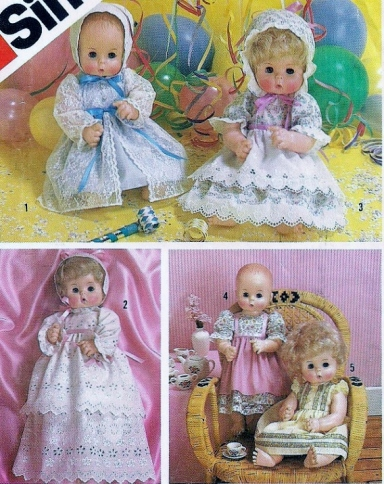 Simplicity 6055 Dolls Set Of Party Dresses Borrowed Close-Up Copy
