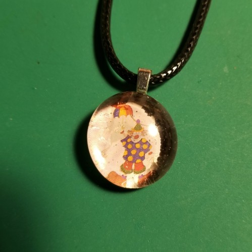 Clown Rainbow Glass Marble Necklace 412018 (10C)