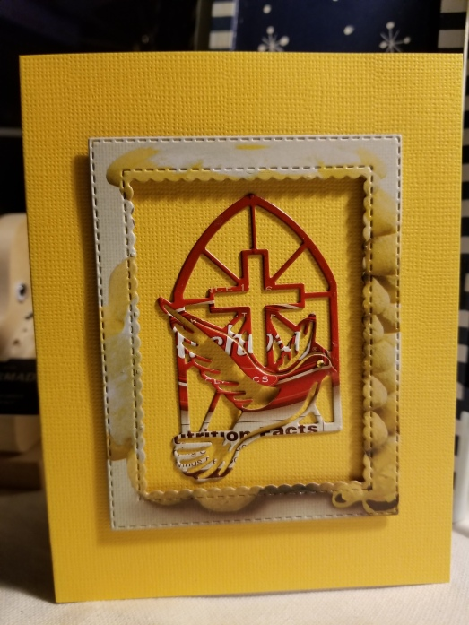 Dove Cross Handmade Greeting Card (13)