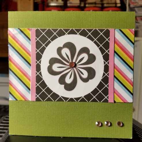 A Striped Design Handmade Greeting Card (1Cropped)