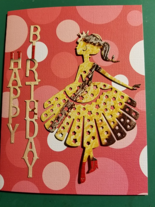 Happy Birthday Princess Handmade Greeting Card 772018 (1)