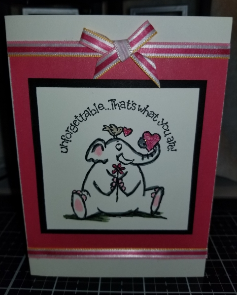 Unforgettable Elephant Love Handmade Greeting Card 8292018 (1)