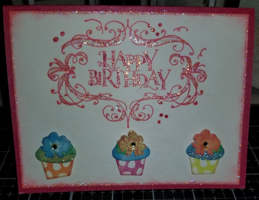 Happy Birthday Cupcake Handmade Greeting Card 912018 (7)