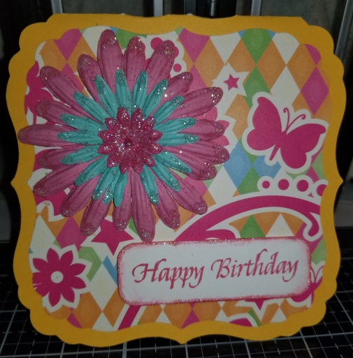 Happy Birthday Flo Handmade Greeting Card 9122018 (1)