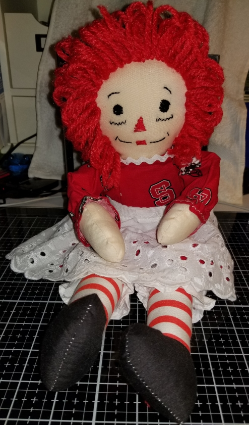 Raggedy Ann 15 Inch Handmade Doll NCSU Brand 9222018 (1)