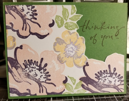 Thinking Of You Floral Handmade Greeting Card 9172018 (2)
