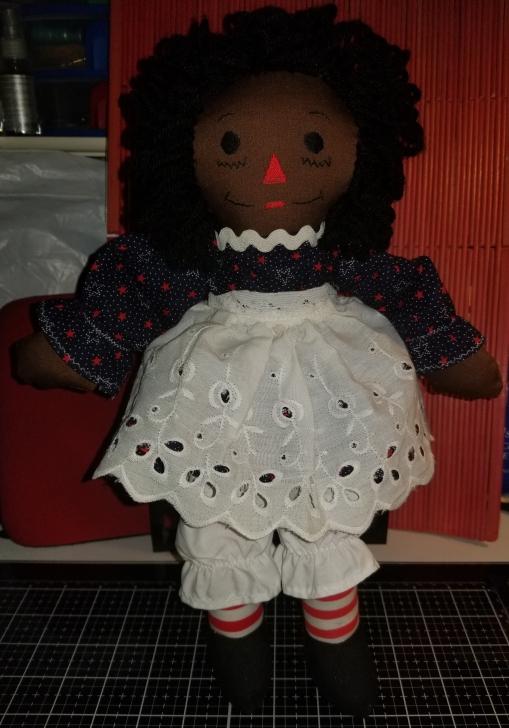 Raggedy Ann 15 Inch African American Black Doll 1012018 (2)