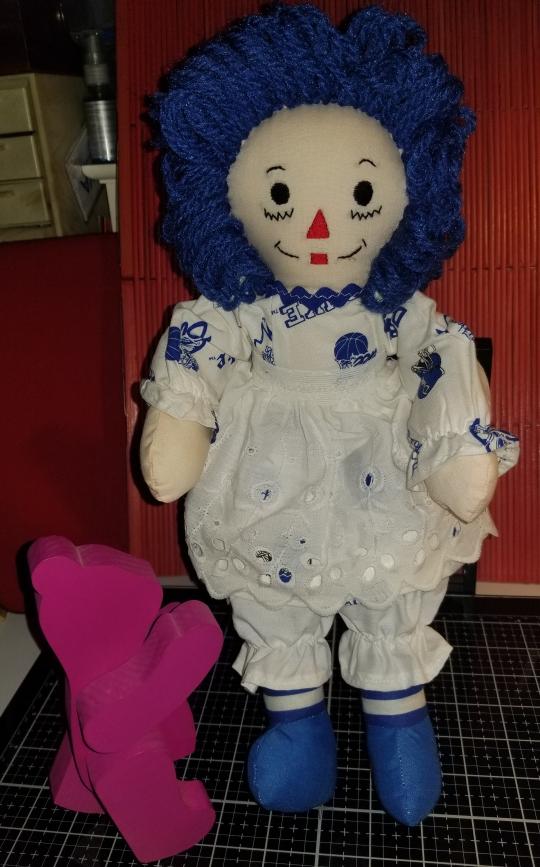 Raggedy Ann 15 Inch Duke Blue Devils Doll 1012018 (3)