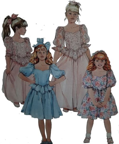McCall's 4252 Pattern Children and Girl Gown or Dress 1192018 (1EraseThumbnail)